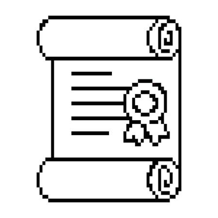 ピクセル ディプロマ ゲームのアイコン ベクトル イラスト デザイン  イラスト・ベクター素材