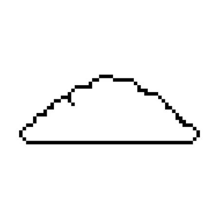 pixelated bush game icon vector illustration design