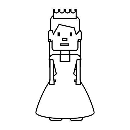poquito: pixelated princess avatar game vector illustration design