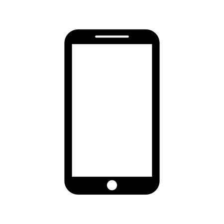 smartphone-apparaat technologie bellen sociale media vector illustratie