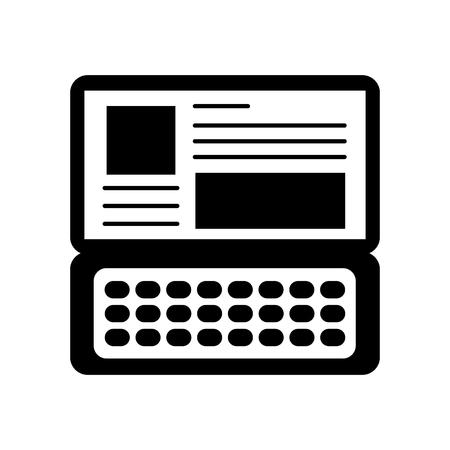 laptop keyboard website application connection vector illustration Illusztráció