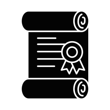 Pixelated pictogram van de het pictogram vectorillustratie van het diplomagame Stockfoto - 87064894