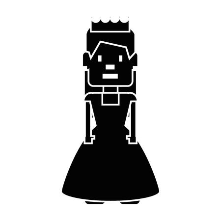 ドット絵姫アバター ゲーム ベクトル イラスト デザイン