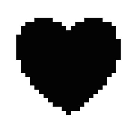 pixelated heart game icon vector illustration design 向量圖像