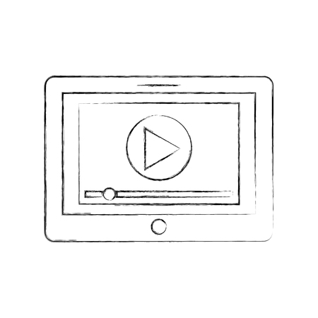 media player interface for websites or applications for tablet vector illustration