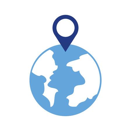 グローブワールドポインタマップ位置ウェブベクターイラスト 写真素材 - 87326923