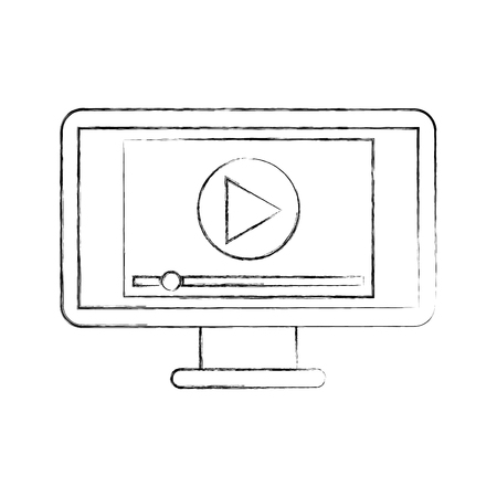 windows frame: screen video player for web and internet media vector illustration Illustration
