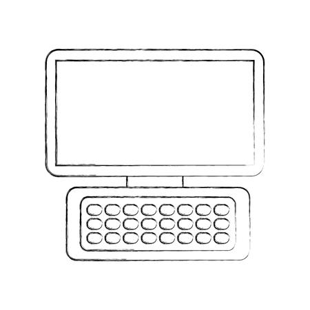 コンピューター キーボード デバイス近代的な技術のワイヤレス ベクトル図  イラスト・ベクター素材