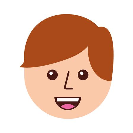 幸せな若い男の子アバター メンバー コミュニティ ベクトル図  イラスト・ベクター素材