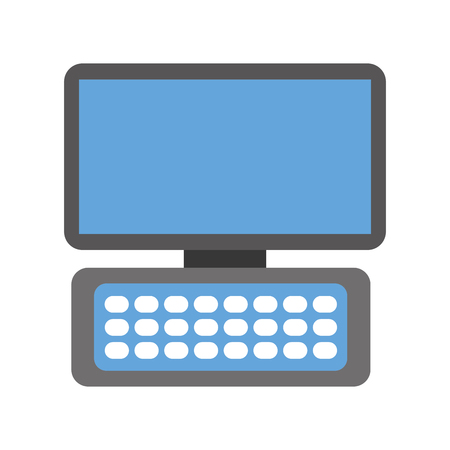 computer keyboard device modern technology wireless vector illustration
