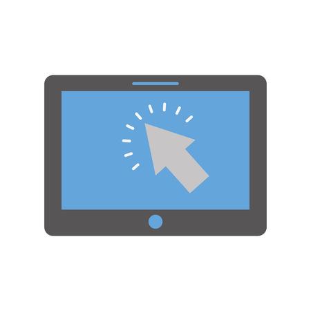 カーソル ボタン デジタル技術のベクトル図を搭載したタブレットします。