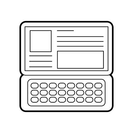 laptop keyboard website application connection vector illustration Ilustrace