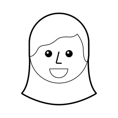 cartoon young teenager happy girl smiling vector illustration Иллюстрация