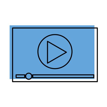 プレーヤー ビデオ マルチ メディア デジタル web ベクトル図