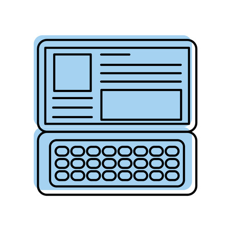 laptop keyboard website application connection vector illustration Illustration