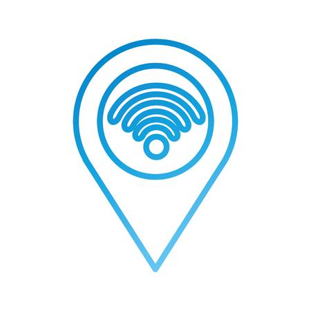 Carte pointeur avec wifi connexion internet connexion illustration vectorielle Banque d'images - 87326988