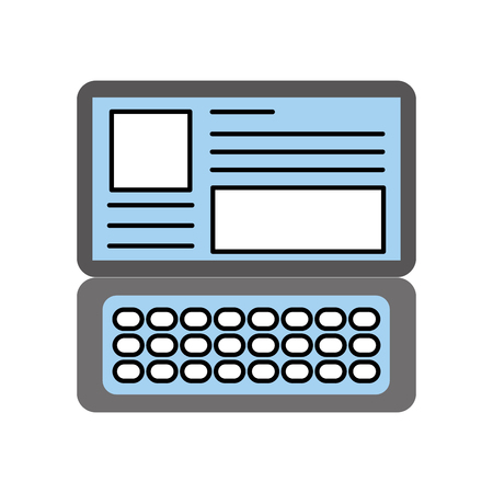 laptop keyboard website application connection vector illustration Reklamní fotografie - 87257657