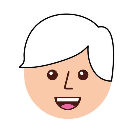 gelukkige jongen avatar cartoon afbeelding vectorillustratie Stock Illustratie
