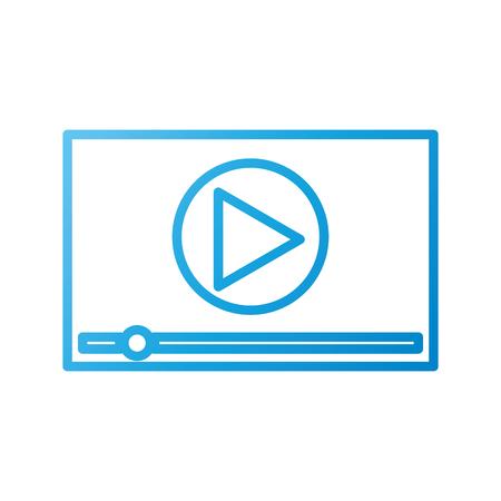 speler video multimedia digitale web vectorillustratie