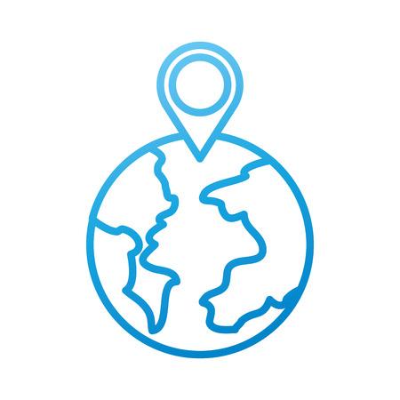 グローブ世界ポインター マップの場所 web ベクトル図 写真素材 - 87327008