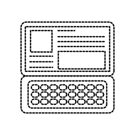 laptop keyboard website application connection vector illustration Reklamní fotografie - 87327019