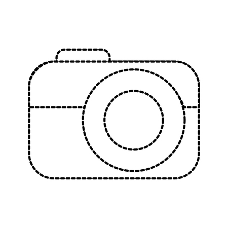 photo camera device technology application vector illustration
