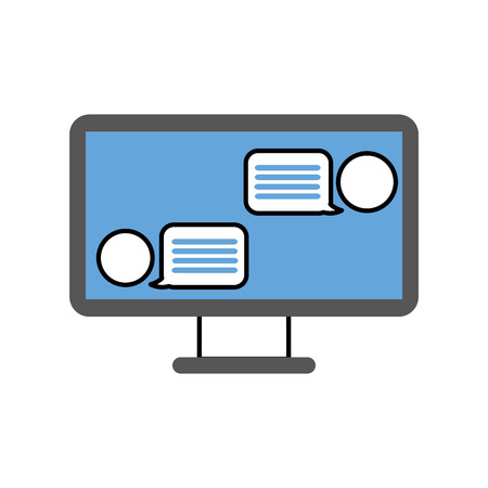 chatting online conversation with texting message vector illustration 向量圖像