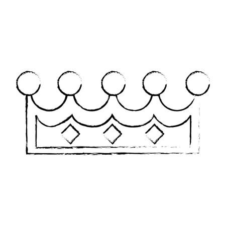 royal person: pixelated queen crown icon vector illustration design