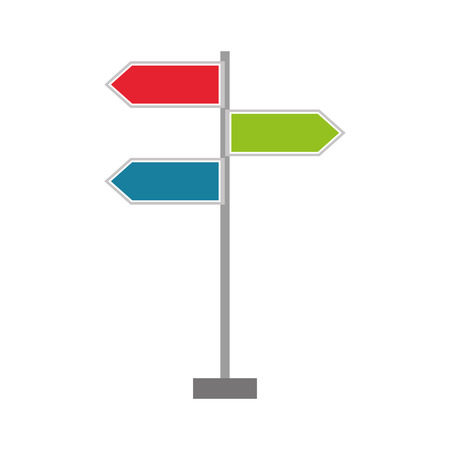 traffic signal arrows guide direction icon vector illustration Ilustracja