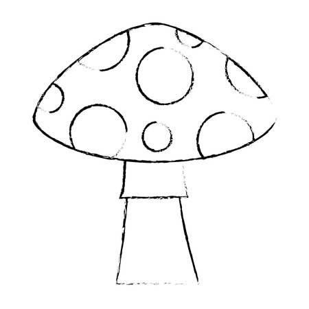 pixelated game mushroom icon vector illustration design Ilustração