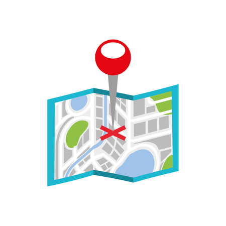 map navigation gps with pointer isolated on white background vector illustration
