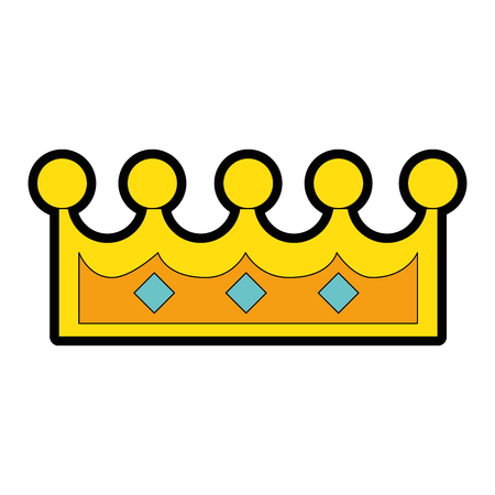 pixelated queen crown icon vector illustration design