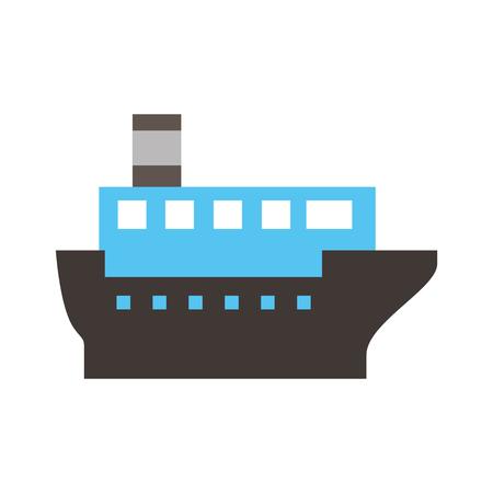 Mer transport logistique maritime transport maritime cargaison vecteur Illustration Banque d'images - 87394478