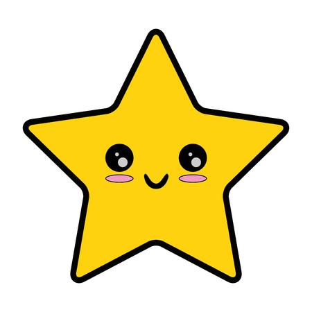 pixelated ontwerp van de het pictogram vectorillustratie van sterkawaii Stock Illustratie