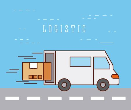 logistic delivery transport speed service vector illustration