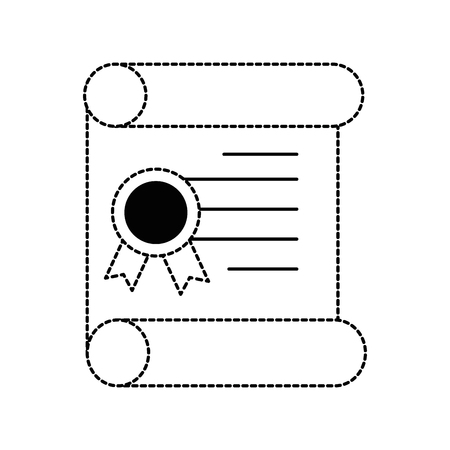 pixelated diploma game icon vector illustration design
