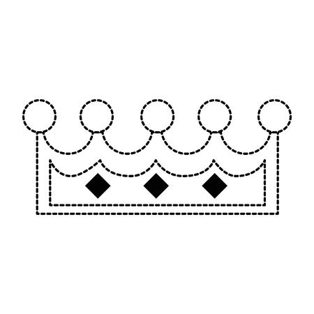 pixelated koningin kroon icoon vector illustratie ontwerp Stock Illustratie