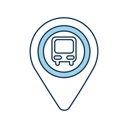 map pointer with symbol bus station for location vector illustration Stock fotó - 87064956