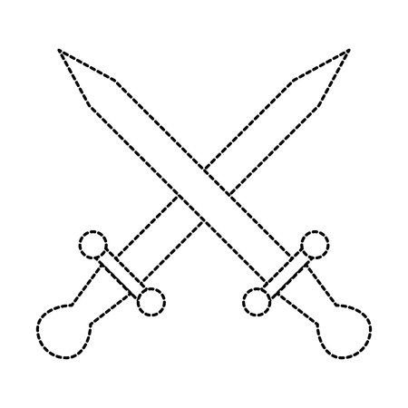 swords game weapons icon vector illustration design Illustration