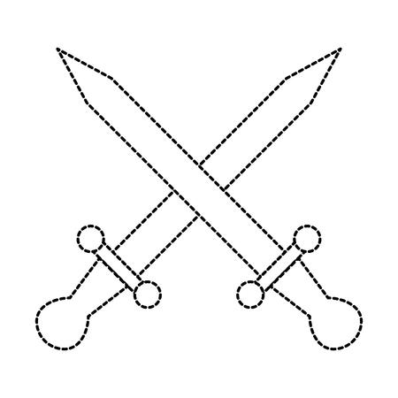 swords game weapons icon vector illustration design Çizim