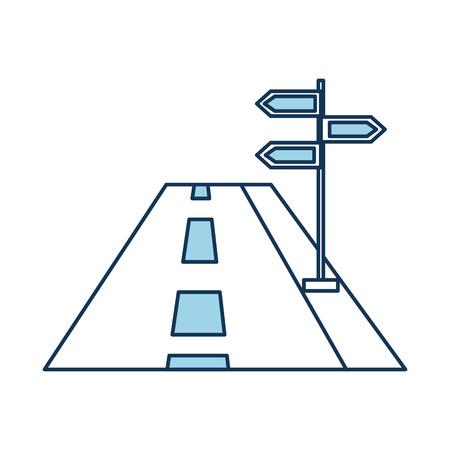 Carretera de tráfico concepto con tráfico de ejemplo de vector de signo Foto de archivo - 87064985