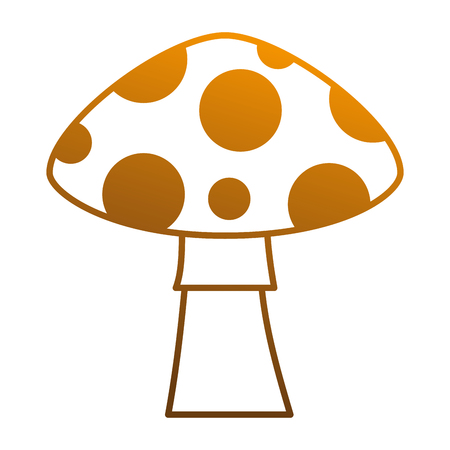 amanita: pixelated game mushroom icon vector illustration design Illustration