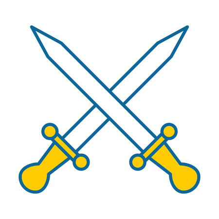 剣ゲーム武器アイコン ベクトル イラスト デザイン
