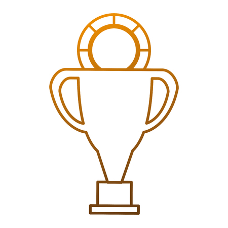pixelated: pixelated trophy with coin game award vector illustration design