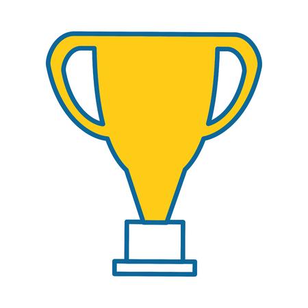 pixelated trophy game award vector illustration design