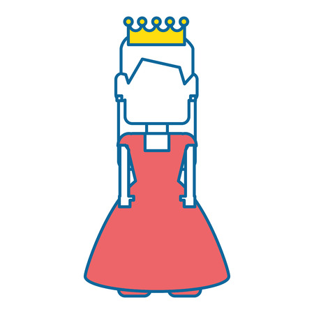 pixelated princess avatar game vector illustration design