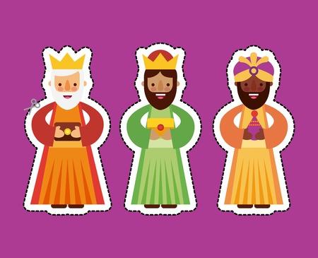 de drie koningen van orient vectorillustratie Vector Illustratie