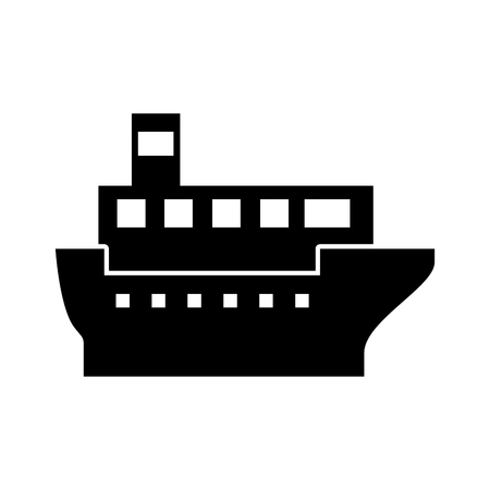 zeevervoer logistieke scheepvaart vrachtschip vector illustratie