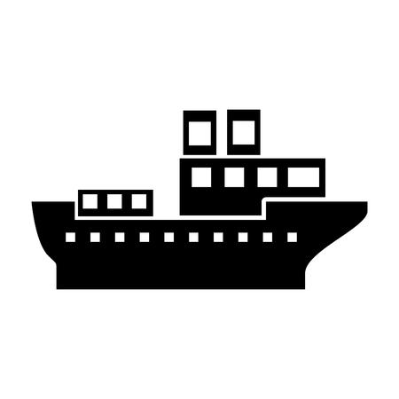 Mer transport logistique maritime transport maritime cargaison vecteur Illustration Banque d'images - 87111642