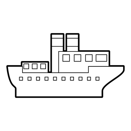 Mer transport logistique maritime transport maritime cargaison vecteur Illustration Banque d'images - 87111660
